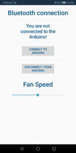 Screenshots Android App Bluetooth arduino control nerd corner