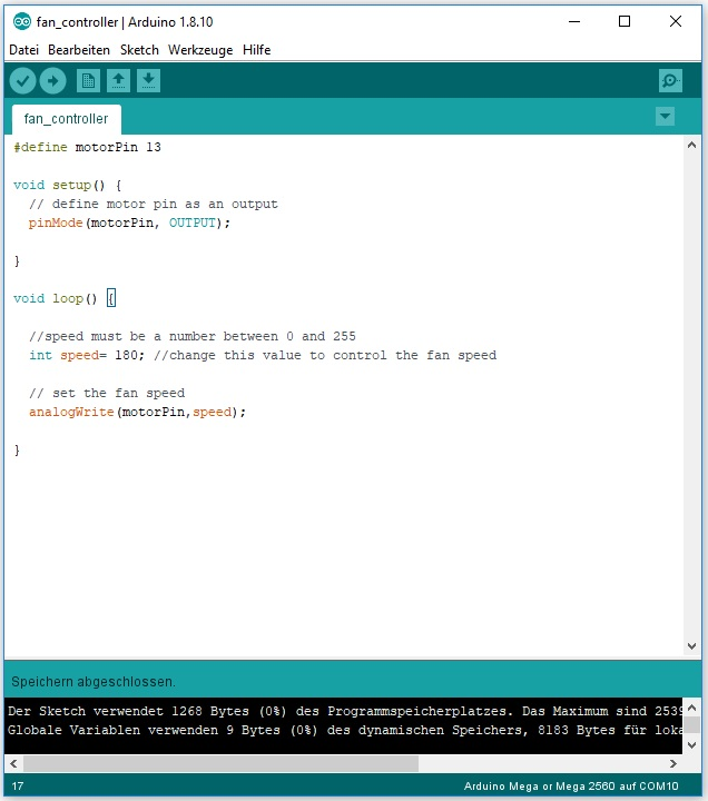 arduino code fan controller nerd corner