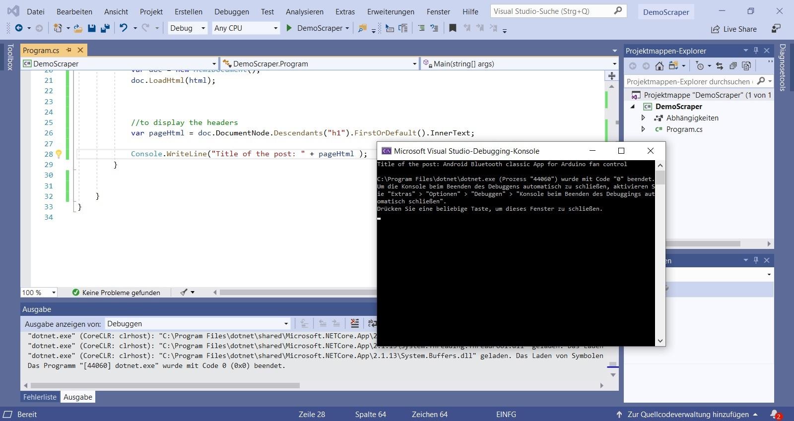 Screenshot title web scraper nerd corner