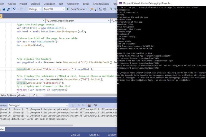 How to program a web scraper in C#