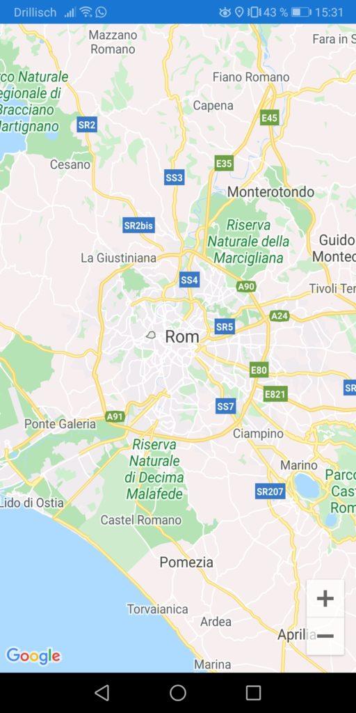 Screenshot Google Maps in App Nerd Corner