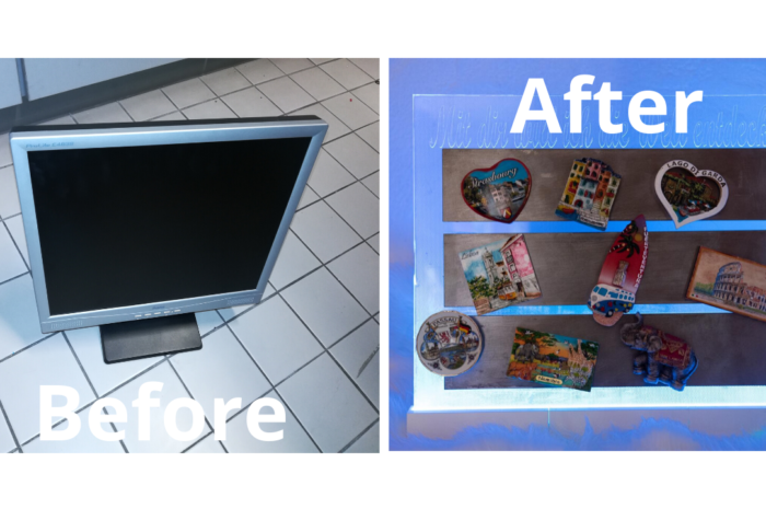 How to transform old PC screen to beautiful magnetic wall