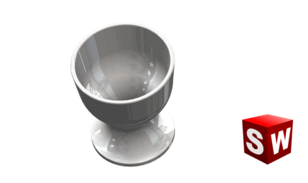 How to use SolidWorks revolved Boss / Base feature egg cup stl 3d print