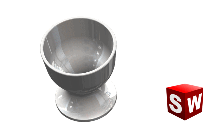 SolidWorks: Egg cup with SolidWorks revolved Boss / Base and Fillet feature