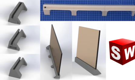 SolidWorks Tutorial stand Design and 3D print a stand with LED