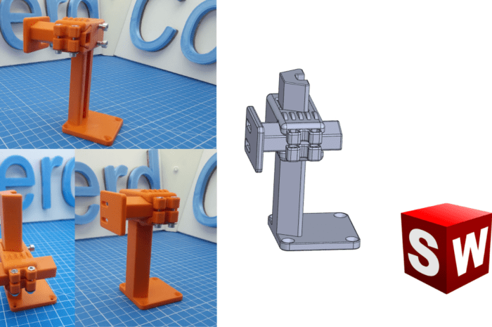 2 adjustable axis – CAD Design
