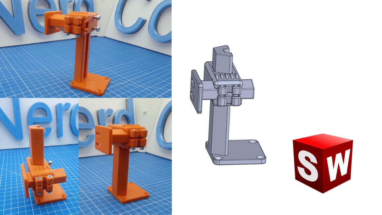 2 adjustable axis CAD