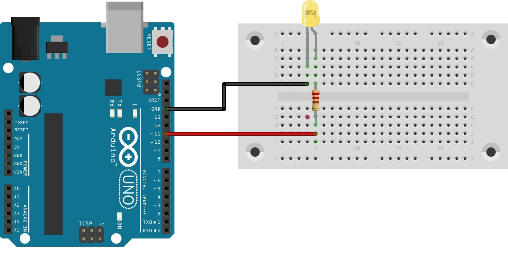 Arduino Timer Interrupt LED sketch