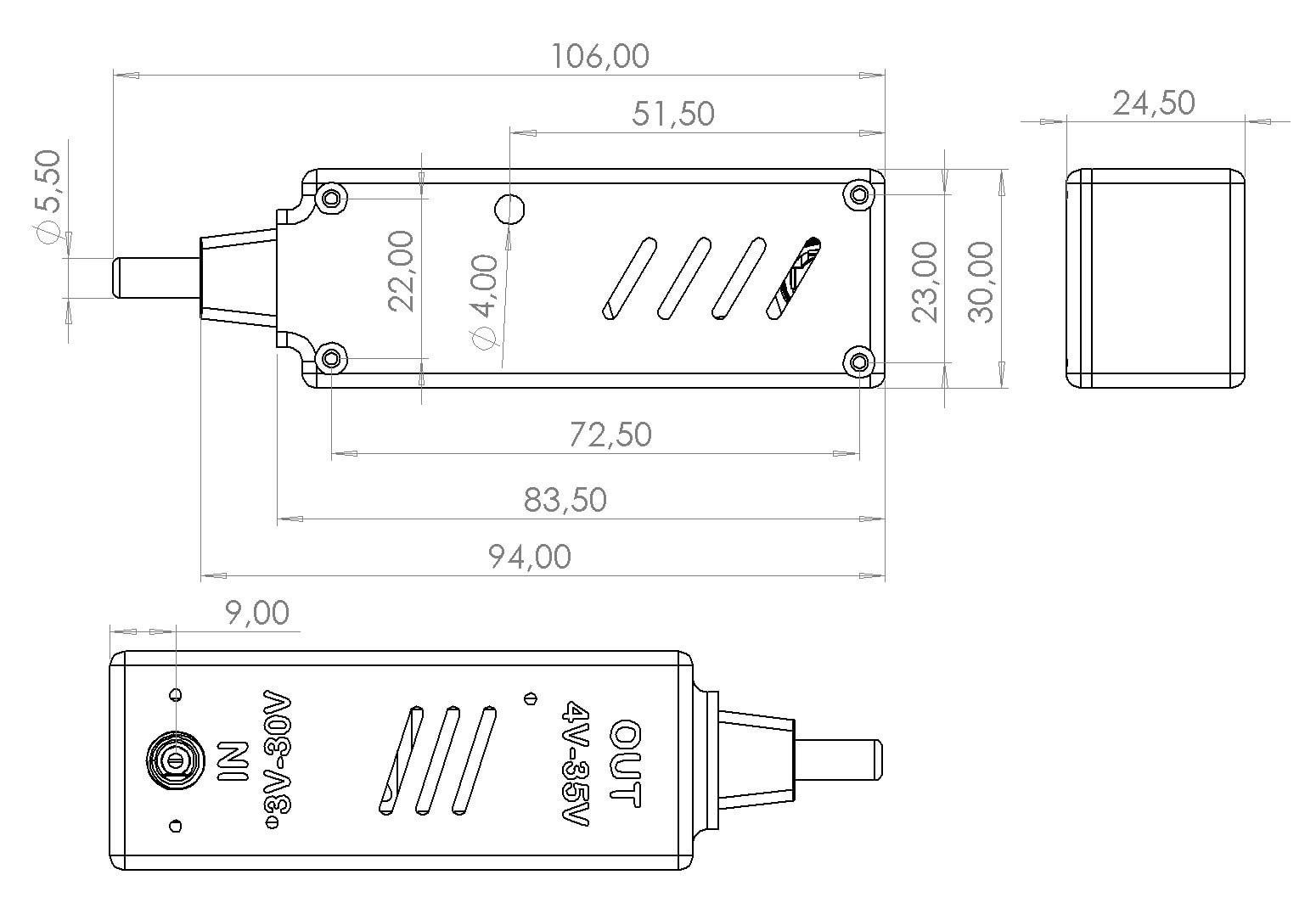 LM2587S Aufwärtswandler Step Up Bauteile Plan