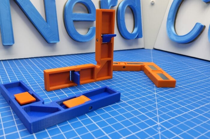 Magnetic clamp for strong neodym magnets