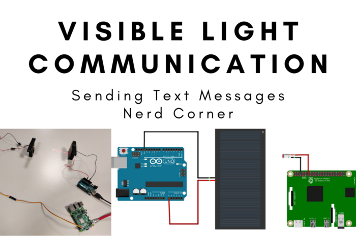 Sending text messages with visible light communication or LiFi – Pi to Arduino