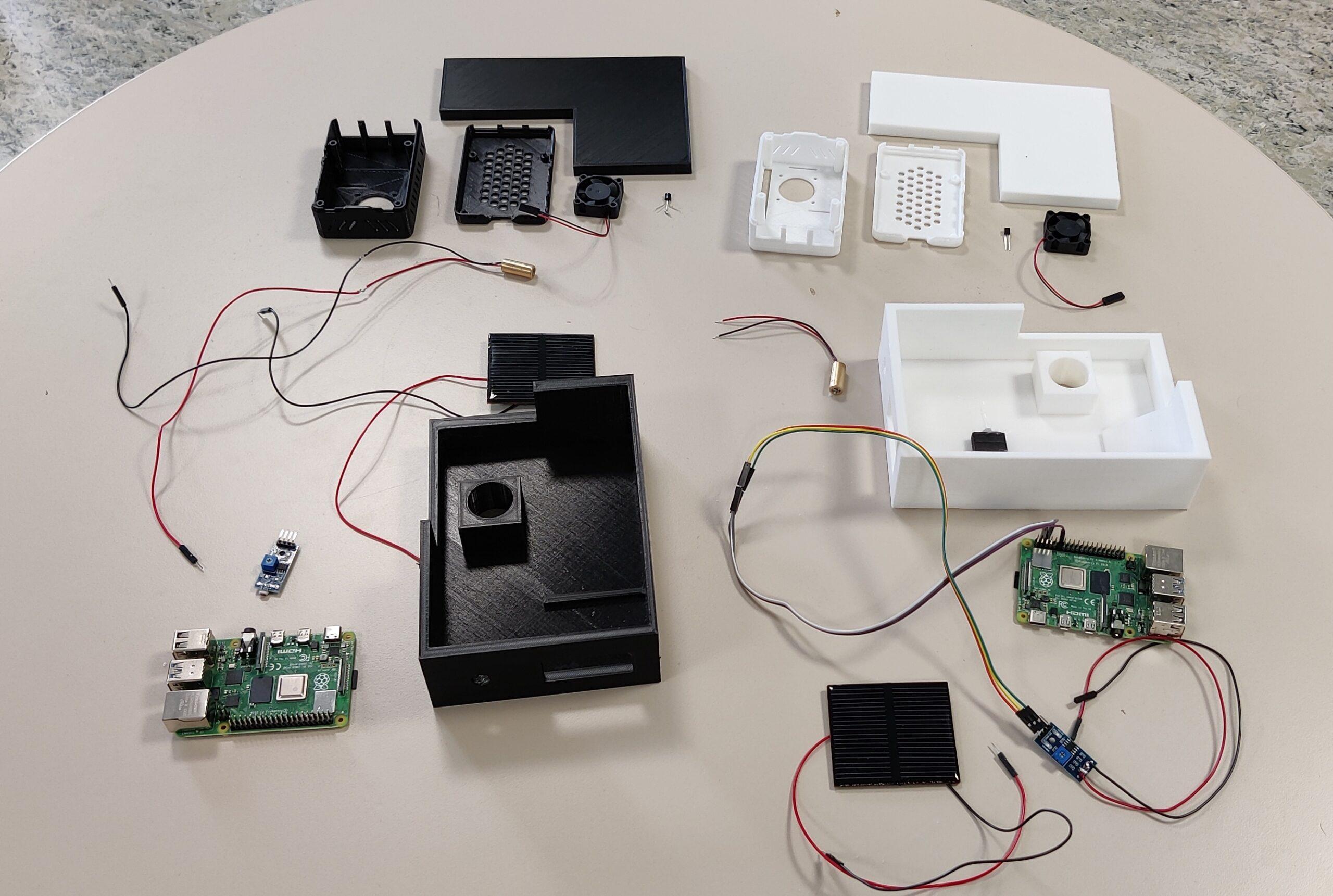 Datenübertragung mit Licht Einzelteile