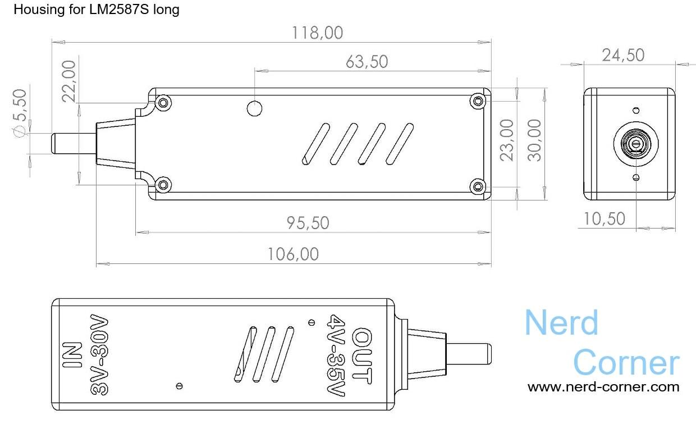 LM2587S Spannungswandler Bauplan LM2587S voltage converter